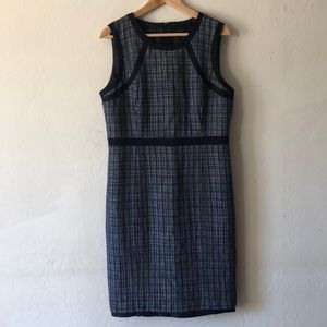 Talbots Sleeveless Tweed Sheath Dress Size 12
